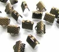 Embouts attache cordon couleur bronze 8x8mm Qte: 10