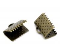Embouts attache cordon couleur bronze 10X8mm Qte: 10