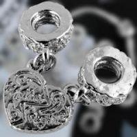 Chaîne de Sécurité Coeur en Métal pour Bracelet 9mm Qte: 1