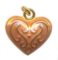 Breloques émaillées coeur 20 x 20 Qte : 2