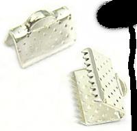 Embouts attaches cordon couleur argent 10X6mm Qte: 10