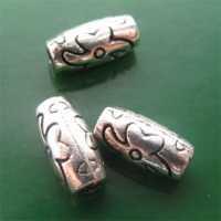 Intercalaires d'argent tibet  10x15 mm..taille du trou = 5 mm Qte : 10
