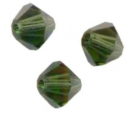 TOUPIES SWAROVSKI® ELEMENTS 6MM  TURMALINE X 20 perles