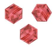 Perles cubes Swarovski 4 mm ( 5601 ) Padparadscha X 8