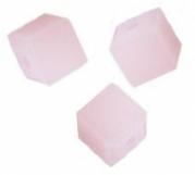 Perles cubes Swarovski 4 mm ( 5601 ) Rose alabaster X 8
