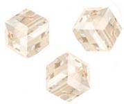 Perles cubes Swarovski 4 mm ( 5601 ) Silk X 8