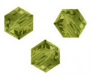 Perles cubes Swarovski 6 mm ( 5601 ) Khaki X 1