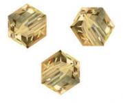 Perles cubes Swarovski 6 mm ( 5601 ) Light colorado topaz X 1