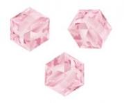 Perles cubes Swarovski 6 mm ( 5601 ) Light rose X 1