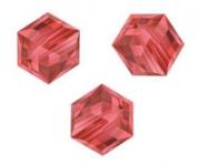 Perles cubes Swarovski 6 mm ( 5601 ) Padparadscha X 1