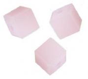 Perles cubes Swarovski 6 mm ( 5601 ) Rose alabaster X 1