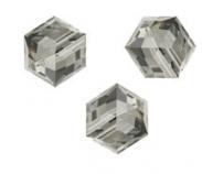 Perles cubes Swarovski 6 mm ( 5601 ) Black diamond X 1