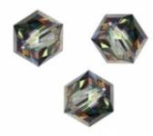 Perles cubes Swarovski 6 mm ( 5601 )) Crystal vitrail medium B X 1