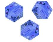 Perles cubes Swarovski 6 mm ( 5601 ) Sapphire X 1