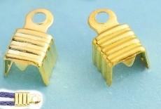 Embouts pince Couleur Doré  8 x 5mm Qte : 10
