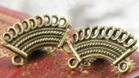 INTERCALAIRES Couleur Bronze Antique 19.5 x 12.5mm  Qte : 5