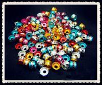 Perles Cylindre d'Aluminium mixte 4 x 6 taille du trou = 2 mm Qte : 20