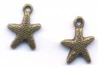 Breloque  Etoile mer Bronze Antique 16x12mm  Qte : 1