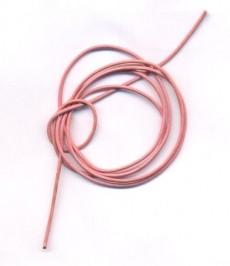 Cordon cuir diametre 1.5 mm rose Qte : 1 metre