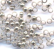 Intercalaires,perles à écraser inox diamètre 3 mm<br /> Qte : 100