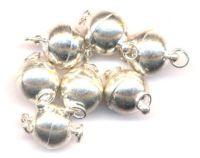 Fermoir magnétique argent  12 mm Avec anneaux X 1