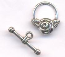 Fermoirs toggle rose anneau : 14 et toggle : 22 Qte : 5