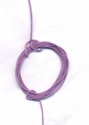 Coton ciré Ø 0.8 mm Couleur : mauve 1 metre