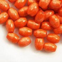 650 Perles en bois Grain de riz orange 6x4mm taille du trou = 1.6 mm