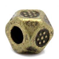 Intercalaires  Bronze 3.5mm x 3.5mm  taille du trou = 1.5 mm Qte: 10