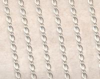 Chainette maille argent ep: : 4 X 3mm 