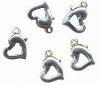 Fermoirs ( mousquetons ) ressorts de Collier Bracelet 14 x 9mm Coeur Qte : 5
