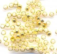 1500 Perles à écraser Couleur Doré 2x2mm