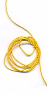 Coton ciré Ø 0.8 mm Couleur : jaune 1 metre