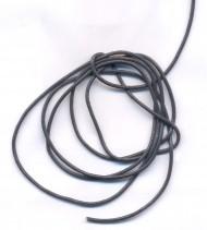 Cordon en Cuir véritable Gris foncé  1.5mm  Qte : 1 metre