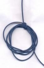 Cordon en Cuir véritable  Bleu 1.5mm  Qte : 1 metre