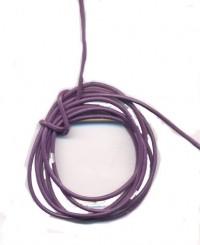 Cordon en Cuir véritable Violet Foncé  1.5mm Qte : 1 metre