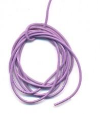 Cordon en Cuir véritable  Violet 1.5mm  Qte : 1 metre