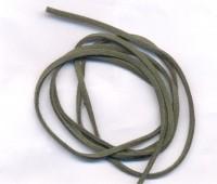 Cordons en Cuir suède Vert  1.7x2.6mm Qte : 1 metre
