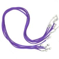 Cordon cuir  violet  Suède 47cm  Qte : 1