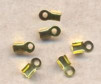 Embouts pince Serre-fil   8.5 X 4mm Dore Qte : 10