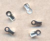Embouts pince Serre-fil 8.5 X 4mm argent Qte : 10