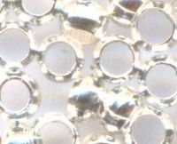 Perles à écraser Argenté 4x4mm  X 20