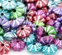 Mixte Perles Intercalaires Soucoupe Acrylique 6x4mm X 50