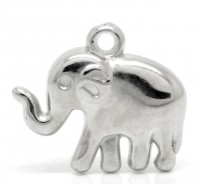 Breloques plastique éléphant pendants  24mmx21mm  X 5