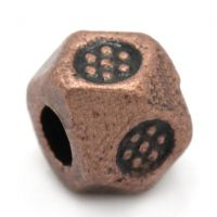 Intercalaires couleur cuivre rouge 3.5mm x 3.5mm  taille du trou = 1 mm Qte: 10