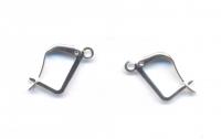 Supports boucle d'oreille Argenté 20x12mm  Qte : 5 paires