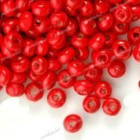 1400 Perles en bois Rond rouge  3x4mm ...taille du trou = 1.4 mm