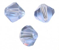TOUPIES SWAROVSKI® ELEMENTS  6MM  LIGHT SAPPHIRE X 20 perles
