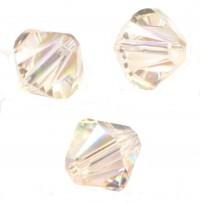 TOUPIES SWAROVSKI® ELEMENTS  6MM  LIGHT SILK X 20 perles