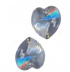 COEURS SWAROVSKI® ELEMENTS 10.3 X 10 CRYSTAL BLUE SHADE X 6